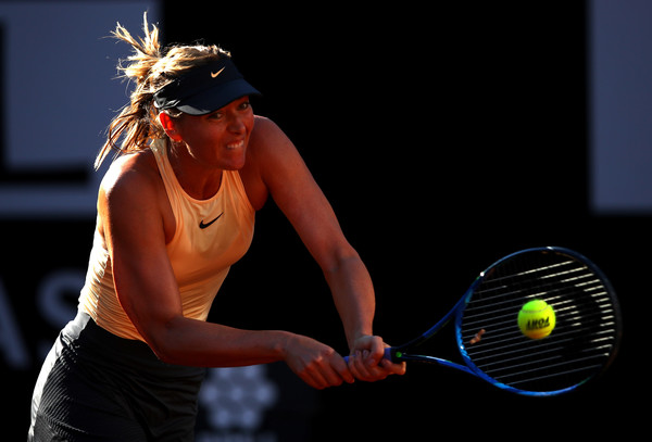 Maria Sharapova's backhands were world-class today | Photo: Julian Finney/Getty Images Europe