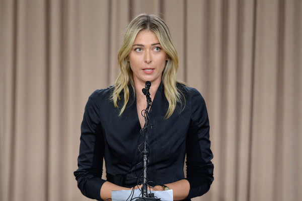 Maria Sharapova addresses the media regarding a failed drug test at the Australian Open at a press conference held at The LA Hotel Downtown in Los Angeles, California, on March 7, 2016. | Photo: Kevork Djansezian/Getty Images