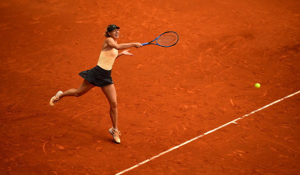 Maria Sharapova's baseline game was working extremely well throughout the match | Photo: Denis Doyle/Getty Images Europe