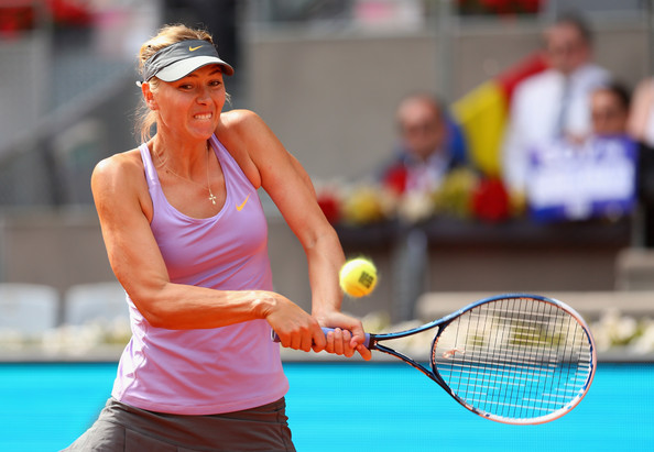 Maria Sharapova in action at Madrid in 2014 | Photo: Clive Brunskill/Getty Images Europe