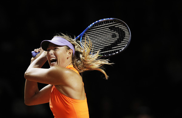 Maria Sharapova's classic grunt was back in action last week | Photo: Adam Pretty/Bongarts