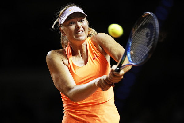 Maria Sharapova in action | Photo: Adam Pretty/Bongarts