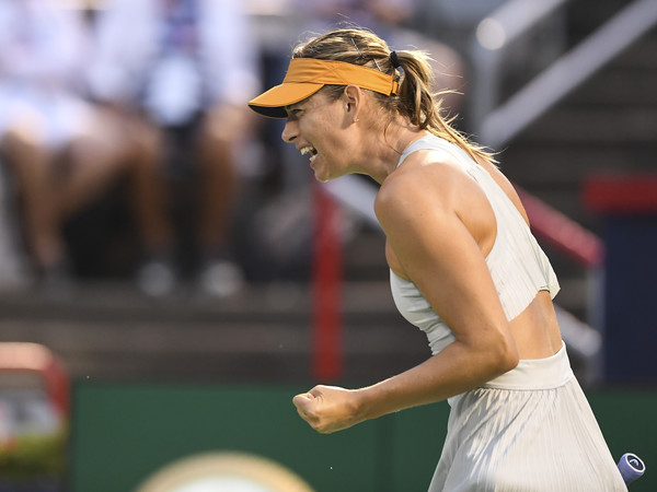 Sharapova might be a shadow of her old self but the fight is not diminished | Photo: Minas Panagiotakis/Getty Images North America
