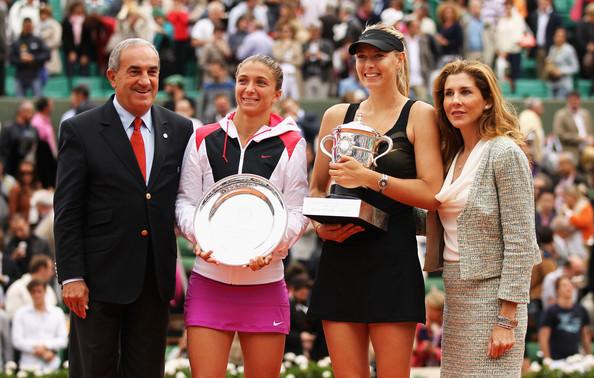 Maria Sharapova and Sara Errani at the 2012 French Open | Photo: Matthew Stockman/Getty Images Europe