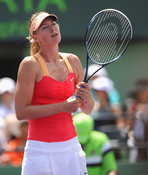 Maria Sharapova looks dejected in her match against Radwanska, which she eventually lost | Photo: Michael Regan/Getty Images North America