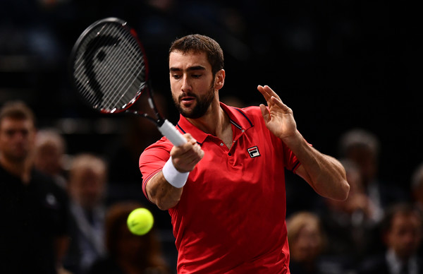 Cilic hits a forehand (Photo by Dan Mullan/Getty Images)