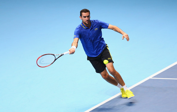 Cilic at the World Tour Finals in 2014 (Photo by Clive Brunskill/Getty Images)