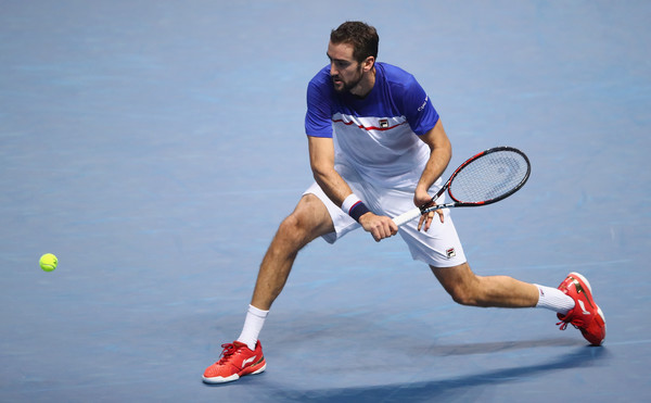 Marin Cilic's backhand was disappointing today | Photo: Clive Brunskill/Getty Images Europe