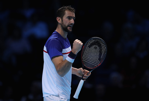 Marin Cilic celebrates winning a point | Photo: Julian Finney/Getty Images Europe