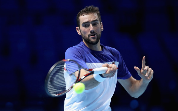 Marin Cilic in action during a practice session at the Nitto ATP World Tour Finals | Photo: Julian Finney/Getty Images Europe