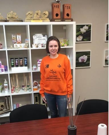 Mariya Muzychuk, presentada en la sede de Laboratorio SyS. | Foto: Club de Ajedrez Paterna