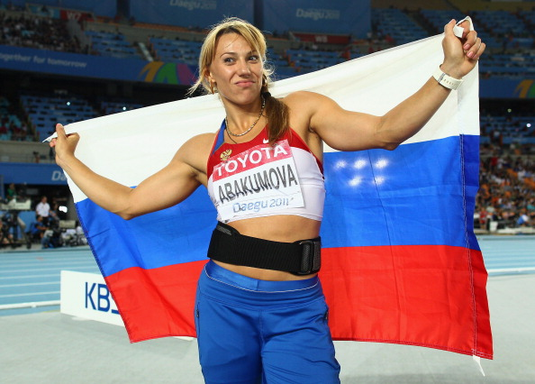 Maria Abakumova won gold at the World Championships in 2011, though is set to be stripped of her medals (Getty/Mark Dadswell)