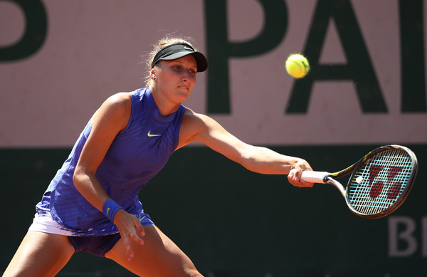 Marketa Vondrousova reaches out for a forehand   Photo: Julian Finney/Getty Images Europe