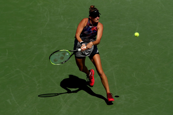 Marketa Vondrousova was thrice a point away from getting the win   Photo: Matthew Stockman/Getty Images North America