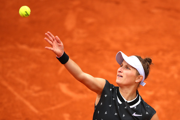 Vondrousova in action at the French Open (Images courtesy of Julian Finney)