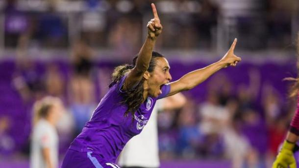 Marta celebrating after a goal | Photo Courtesy: Orlando City SC