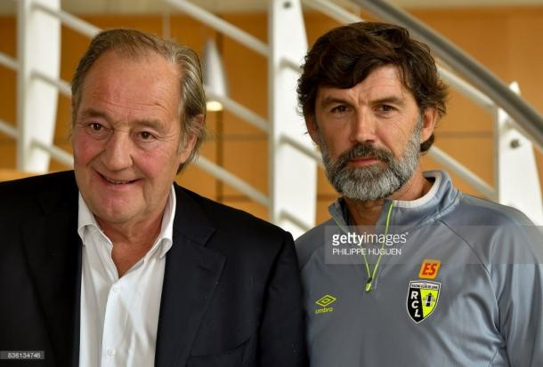 Gervais Martel (L) with new manager Éric Sikora. Source | Getty Images.