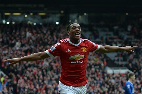 Martial celebrates his goal | Photo: Oli Scarff/AFP