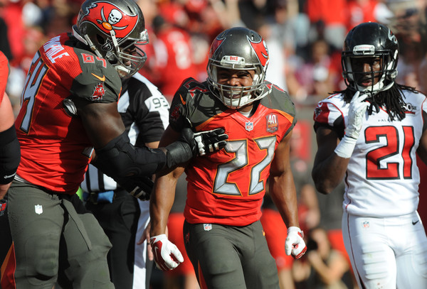 Doug Martin after scoring a touchdown against the Atlanta Falcons