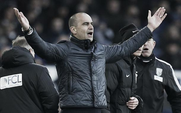 Martinez's relationship with the Everton supporters has soured in recent weeks. | Photo: Getty Images