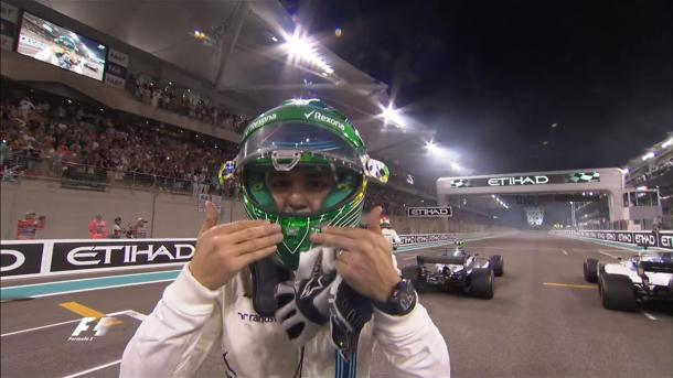 """Massa deu """"zerinhos"""" e comemorou com o público sua última corrida (Foto: Divulgação/F1)"""