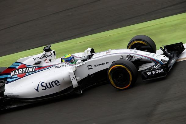 Felipe Massa não foi bem e larga apenas em 12º (Foto: Divulgação/Williams)