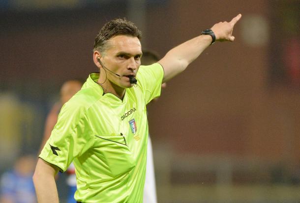 Il direttore di gara, Massimiliano Irrati - Fonte: aiapistoia.it