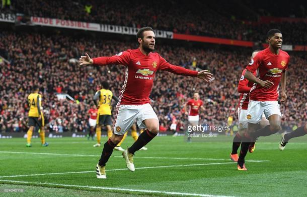 Juan Mata took his goal well. | Photo: Getty Images/Shuan Botterill