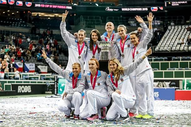 The Czech Republic won the Fed Cup title when they hosted Russia in the final in 2015 (Getty/Matej Divizna)