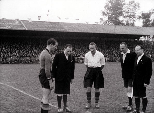 Busby captained the Combined Services side against Belgium, winning 3-0