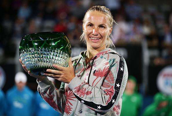 Svetlana Kuznetsov holds the title after winning the Apia International in Sydney (Getty/Matt King)