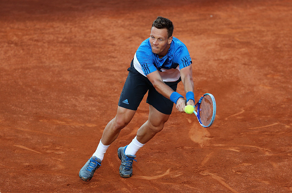 Tomas Berdych in action during his double bagel loss to David Goffin in Rome (Getty/Mathew Stockman)