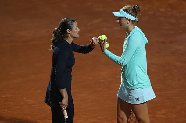 Monica Niculescu and Irina-Camelia Begu, who will both be in action, playing doubles at the Internazionali BNL d'Italia (Getty/Matthew Lewis)