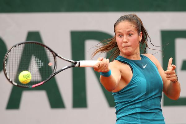 Photo Source: Matthew Stockman/Getty Images Europe: Daria Kasatkina hits a forehand winner.