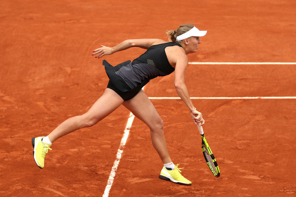 Photo Source: Matthew Stockman/Getty Images Europe: Caroline Wozniacki's serve let her down at a crucial point.