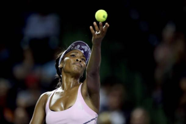 Venus Williams, in action against Svetlana Kuznetsova, will need to serve well (Getty/Matthew Stockman)