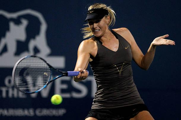 Maria Sharapova in action at the Bank of the West Classic in 2011, the last time she played at the tournament (Getty/Matthew Stockman)