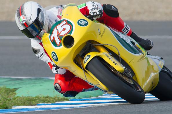 Mattia Pasini con el dorsal 75 en 125cc