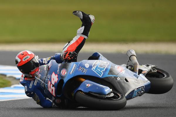 Mattia Pasini con el Italtrans de Moto2. Foto: Zimbio