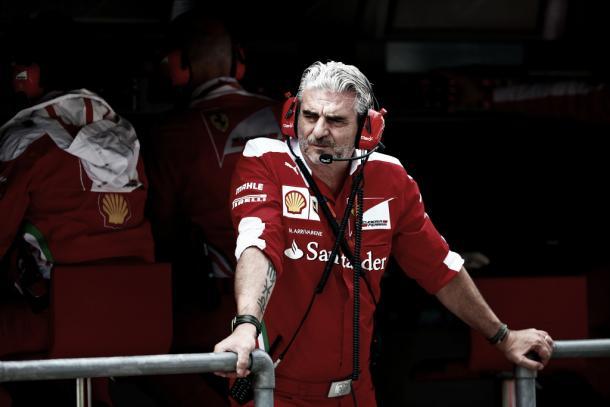 Maurizio Arrivabene dio un toque a Sebastian Vettel el pasado GP de Japón | Foto: Getty Images