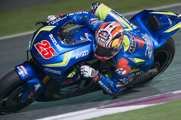 Maverick Vinales in action during the Qatar MotoGP   Photo: Mirco Lazzari