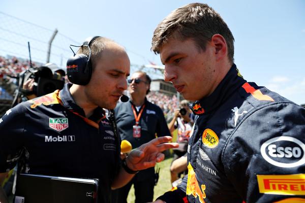 Rostro serio de Verstappen antes de comenzar el GP de Canadá. Fuente: Zimbio