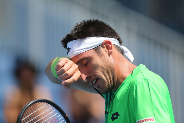 Leonardo Mayer during his first round loss at the Australian Open. Photo: Pat Scala/Getty Images