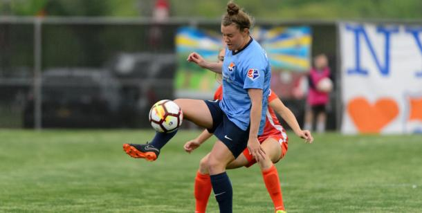 Savannah McCaskill has had a solid start to her rookie season | Source: skybluefc.com