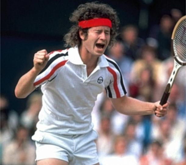 John McEnroe throws a tantrum at Wimbledon. Photo: Getty Images