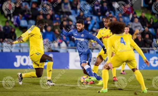 Molina en la temporada 16-17. Fuente: Getafe C.F.