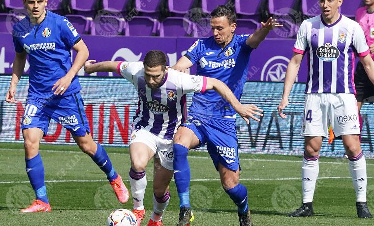 Valladolid 2-1 Getafe. Fuente: Getafe C.F.