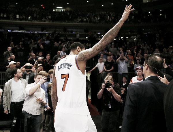 Los New York Knicks quieren traspasar a Carmelo. Fuente: Zimbio.com