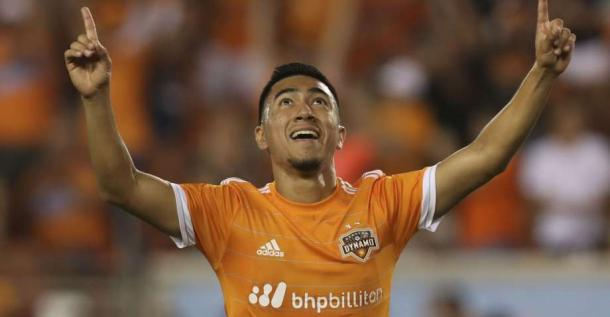 Memo Rodriguez scored the Dynamo's third goal. | Source: Yi-Chin Lee, Houston Chronicle