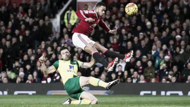 Memphis scored - Norwich City earlier this season | Photo; Getty Images